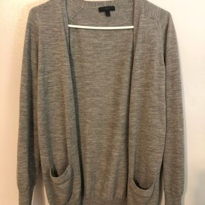 Jcrew long grey cardigan